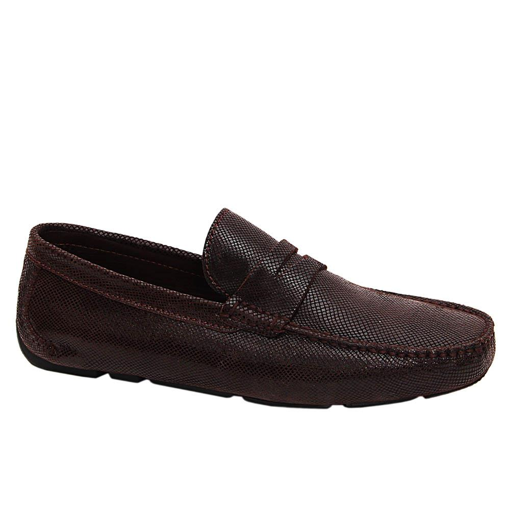Coffee Emiliano Italian Leather Drivers Shoe
