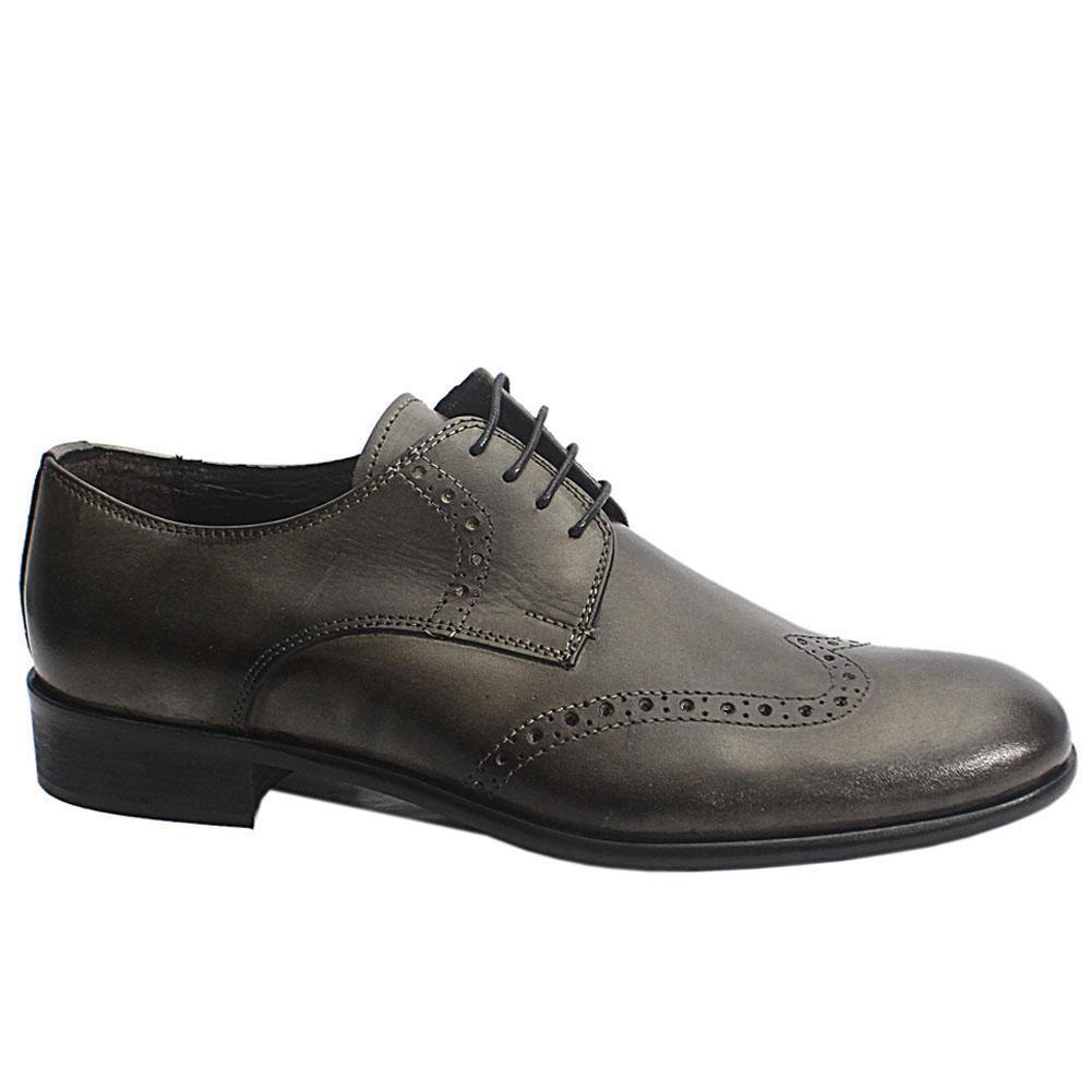 Blackish-Gray-Grigio-Italia-Leather-Men-Shoe