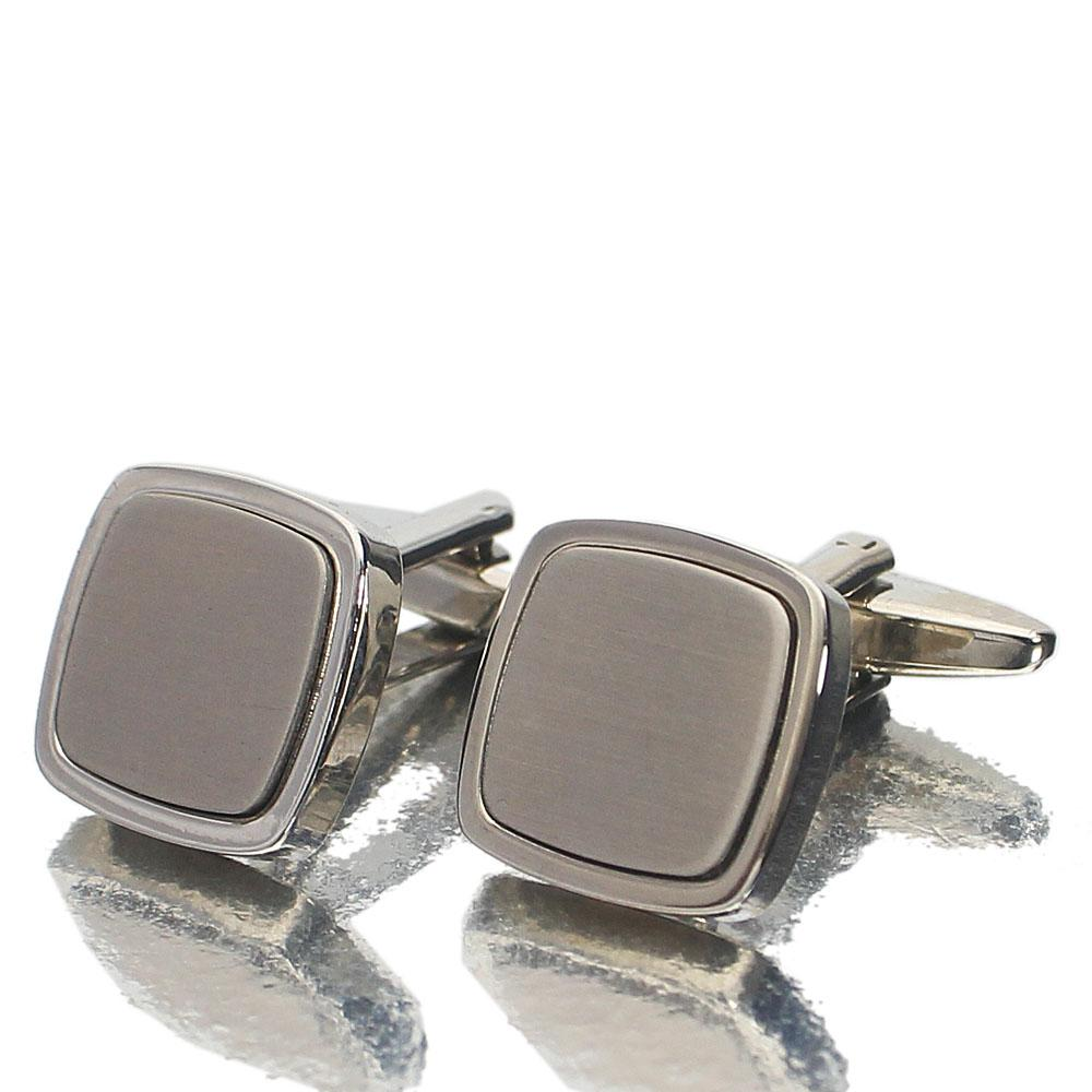 M & S Oxford Silver Stainless Steel Cufflinks