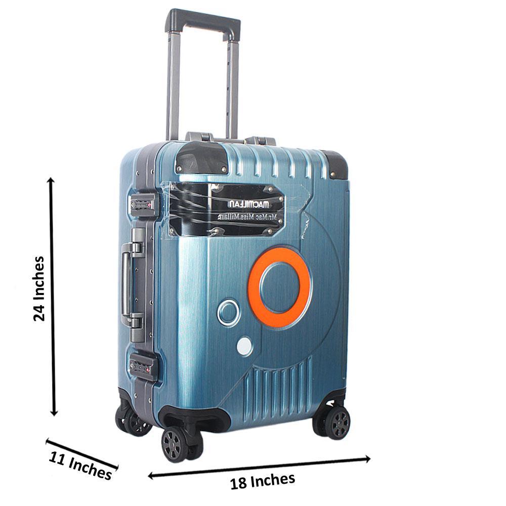 Turquoise Blue 24 Inch Mr& Mrs Hardshell Medium Luggage Wt TSA Lock