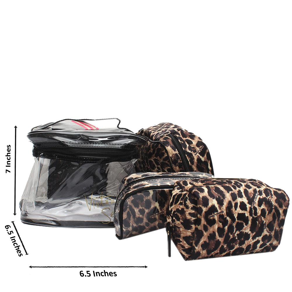 Victoria Secret Animal Skin Rubber Fabric Makeup Bag