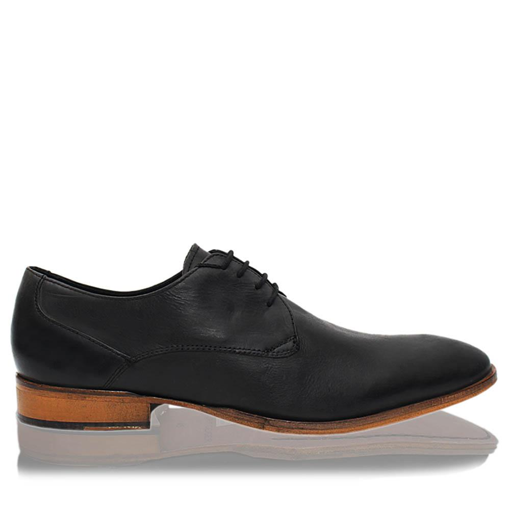 Black Hudson Leather Men Derby Shoes