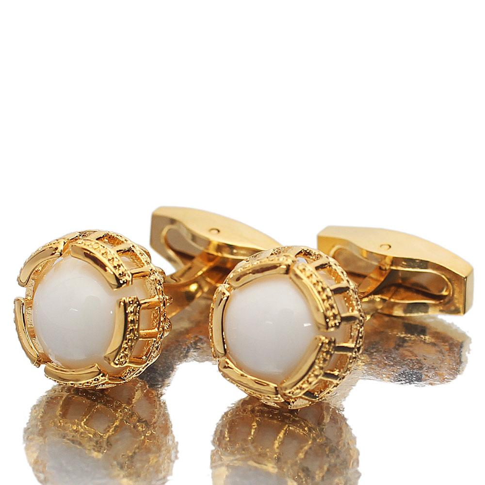 Gold PreciouPearl Stainless Steel Cufflinks