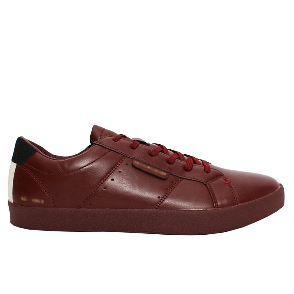 Wine Duke Leather Sneakers