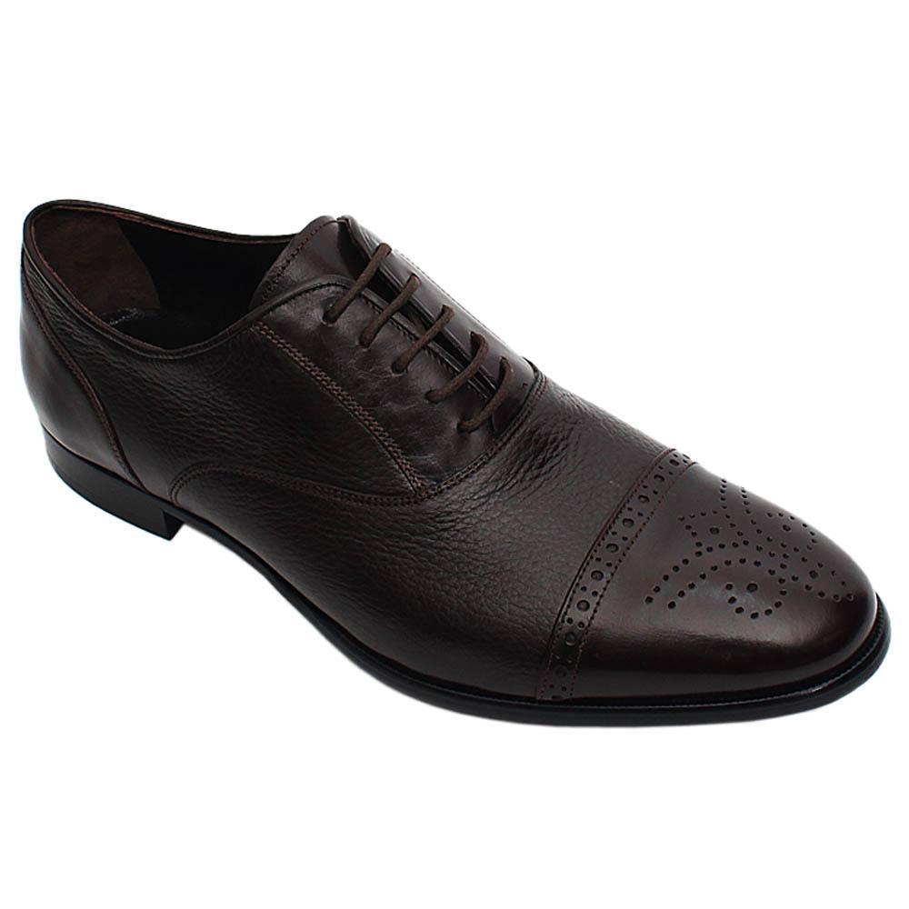 Coffee Roberto Italian Leather Men Oxford Shoe