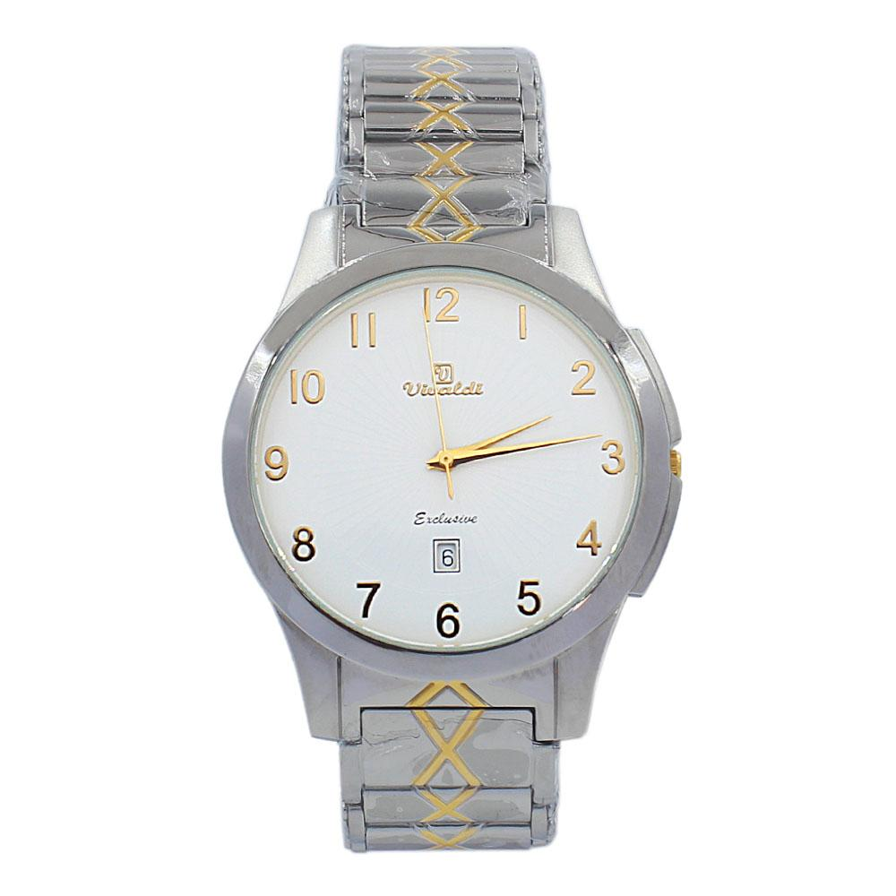 Silver Aurelio Stainless Steel Fashion Watch