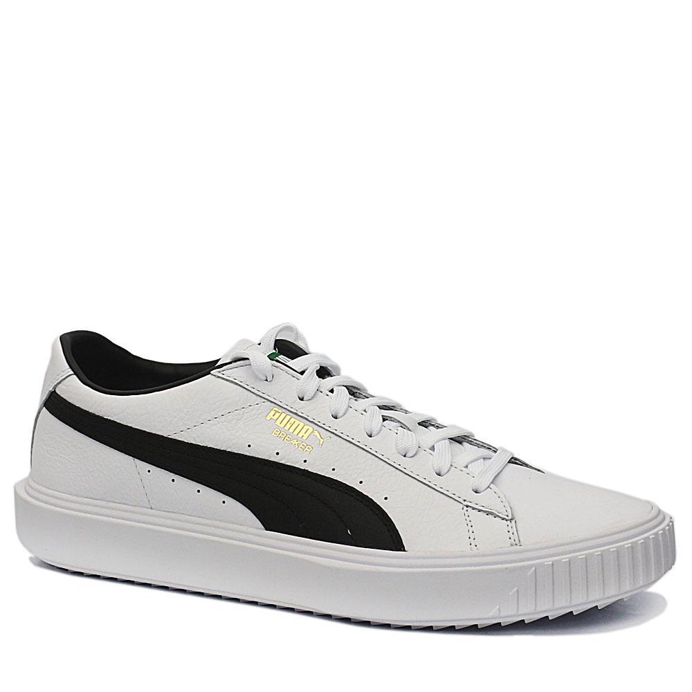 Sz 44 Puma Breaker White Leather Sneakers