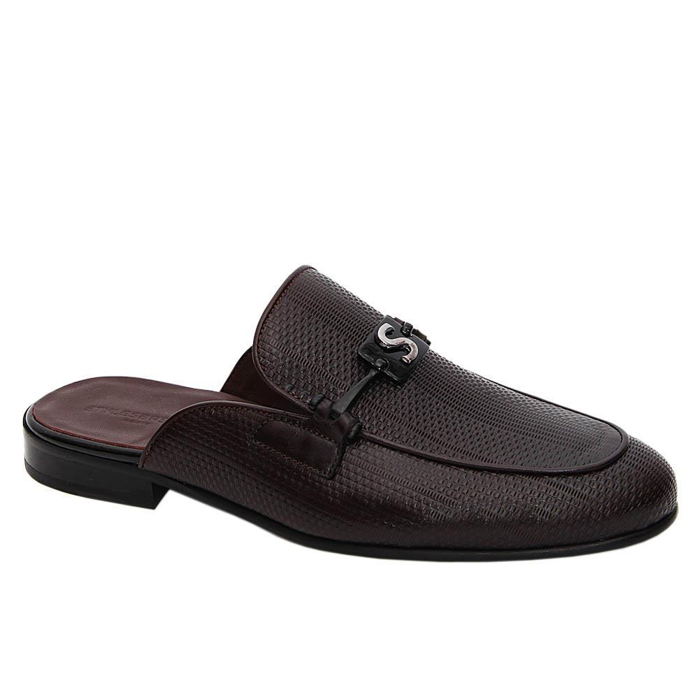 Coffee Alvaro Italian Leather Half Shoe