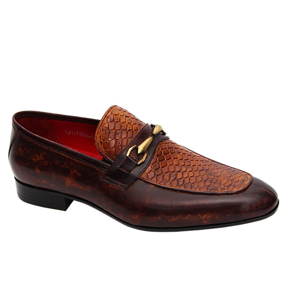 Brown Blaze Italian Leather Loafers