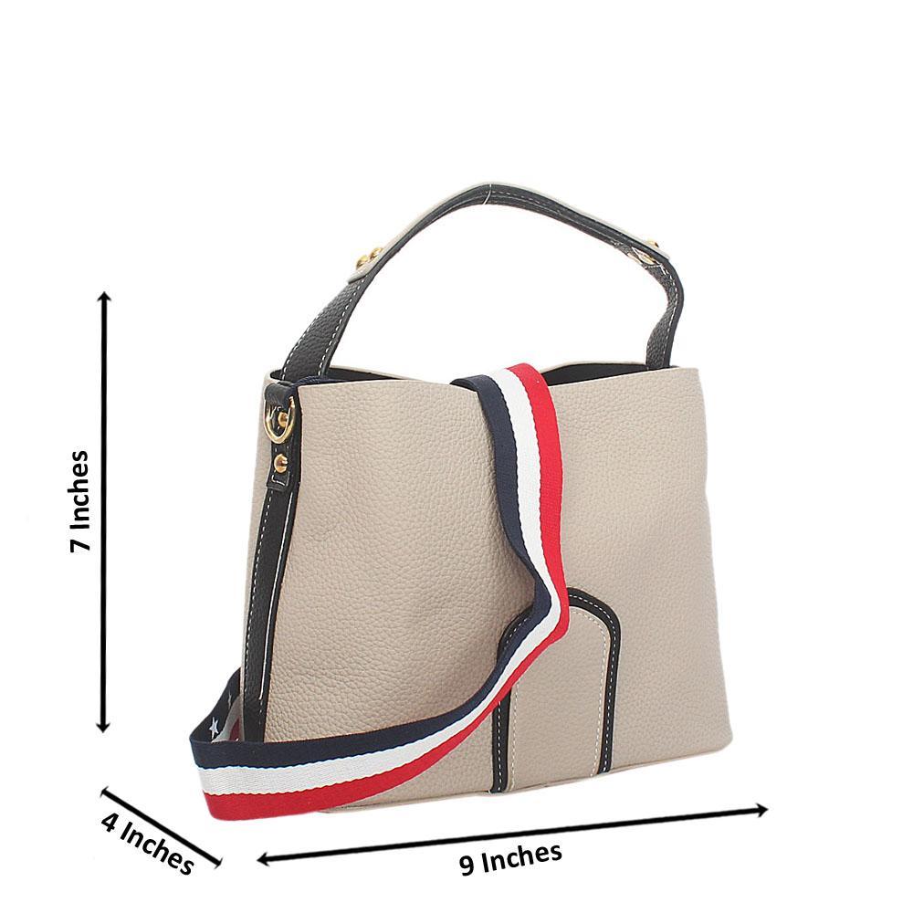 eb19028b3eb9 Lover Gray Leather Small Top Handle Handbag