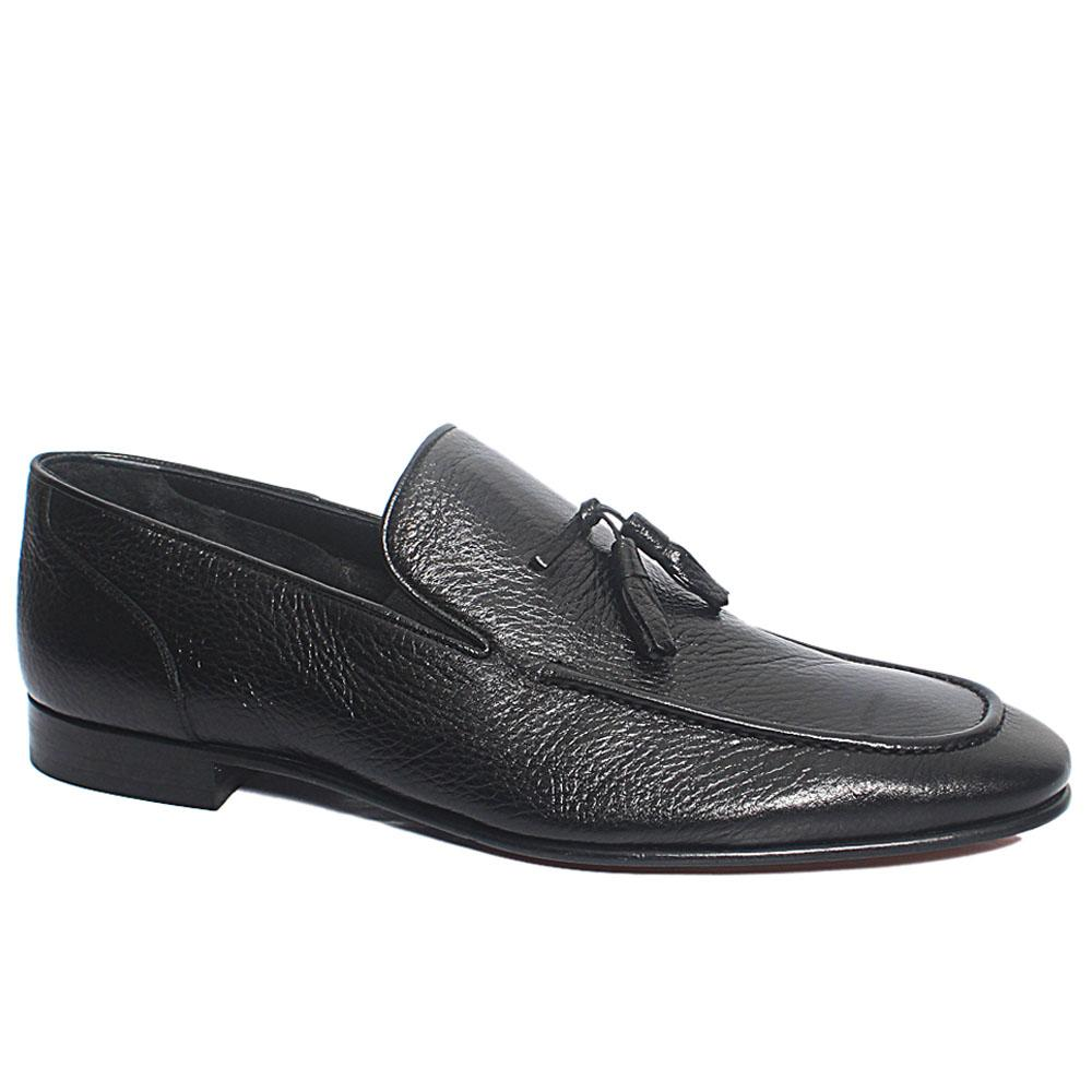Black Lex Italian Leather Penny Loafers