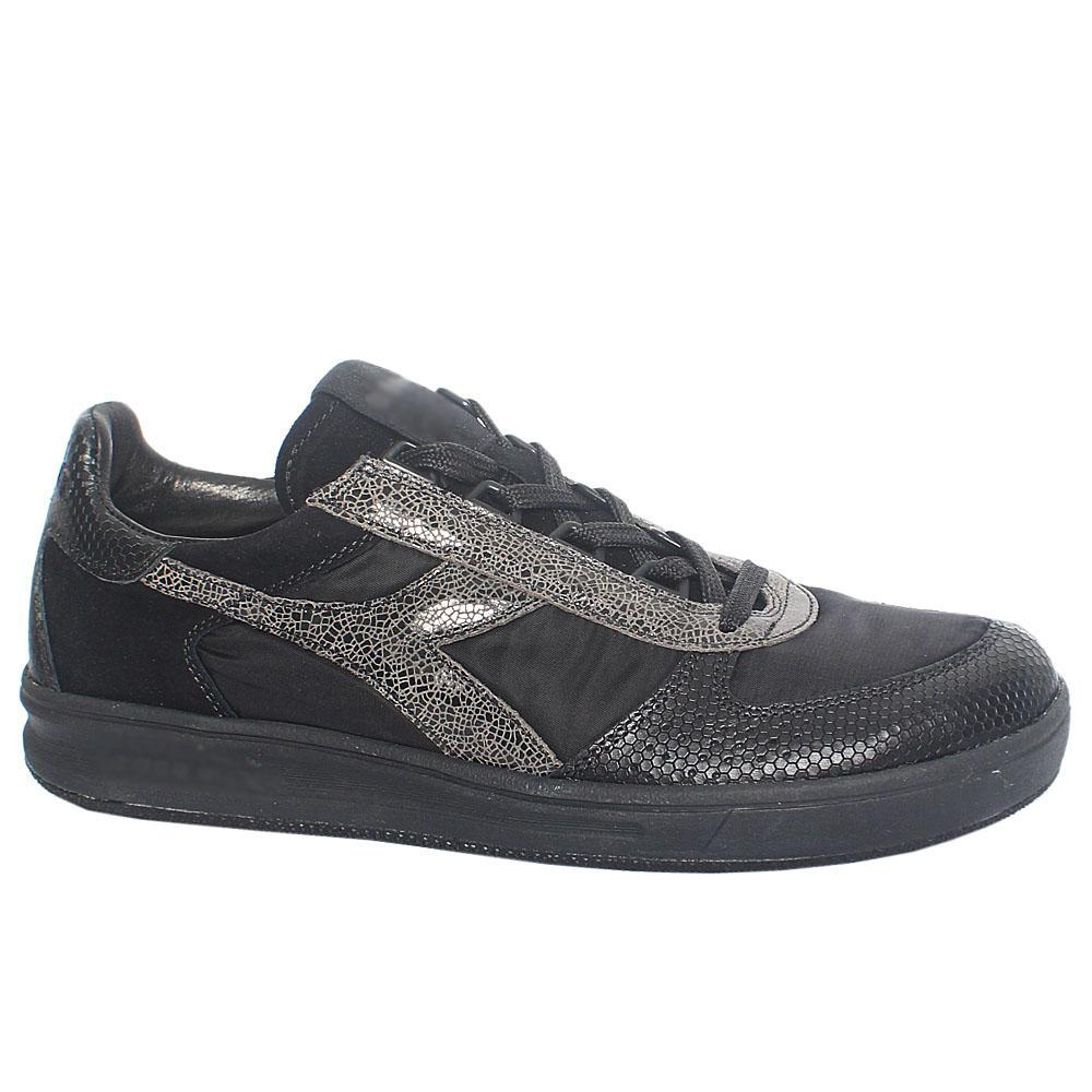Black Elite Mix Fabric Suede Leather Breathable Sneakers