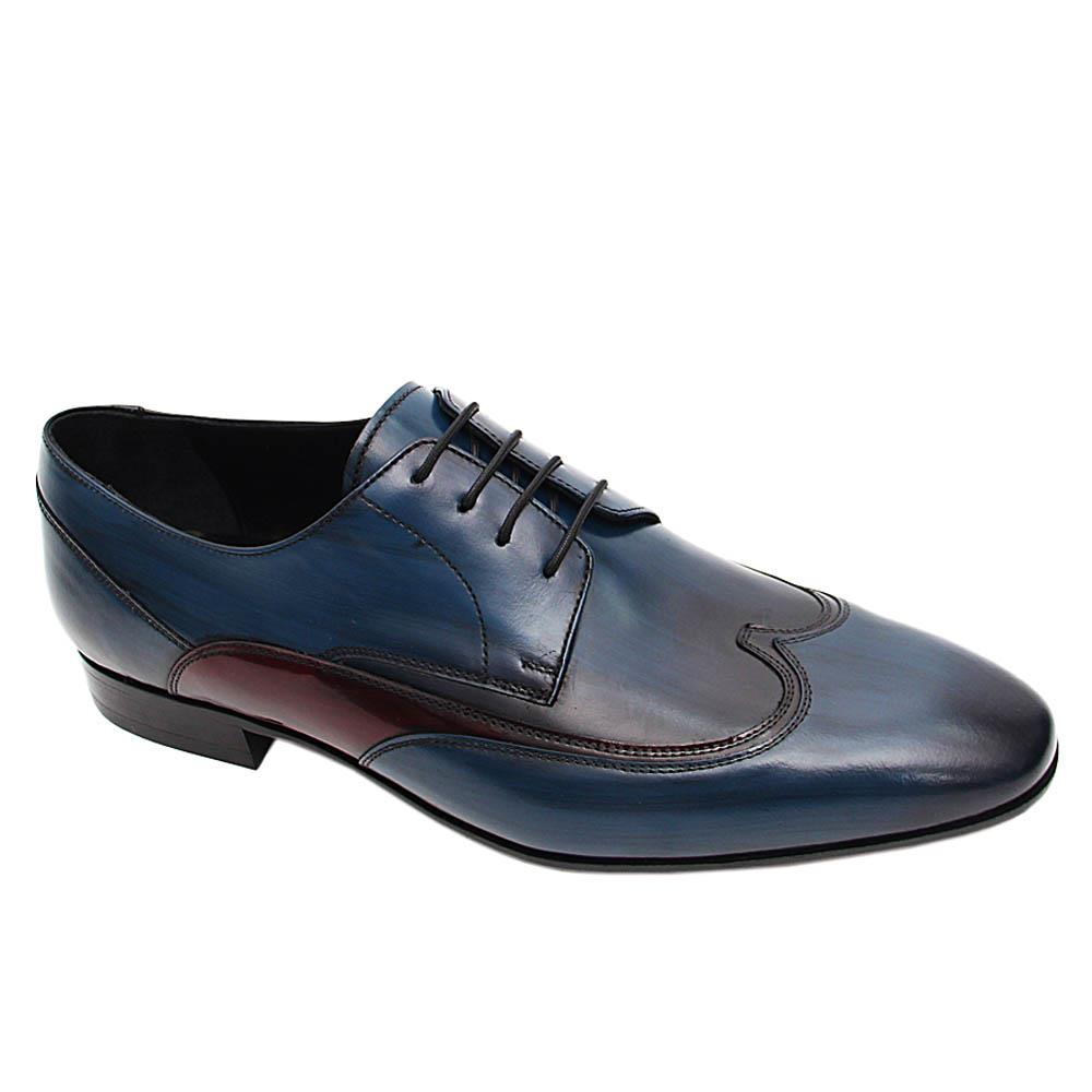 Blue Wine Raffaele Italian Leather Derby Shoe