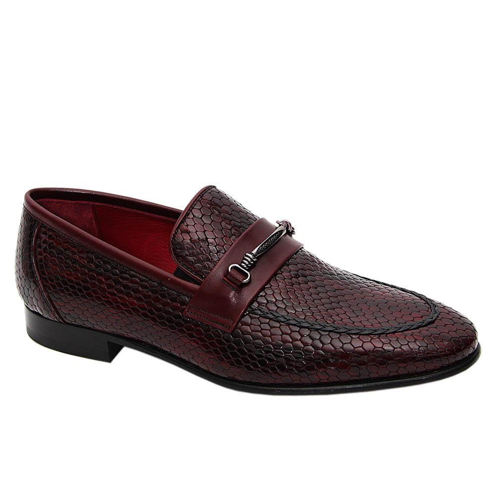 Burgundy Ascensio Italian Leather Penny Loafers