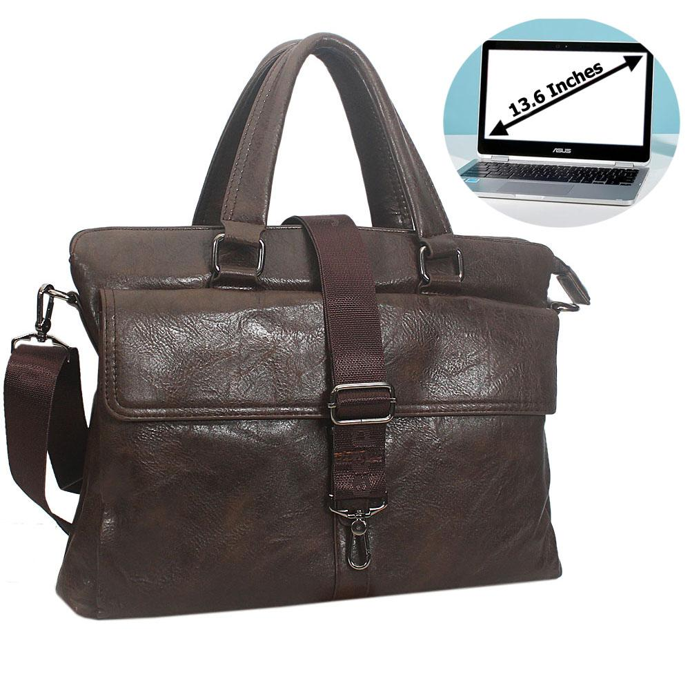 Coffee Felipe Leather Briefcase