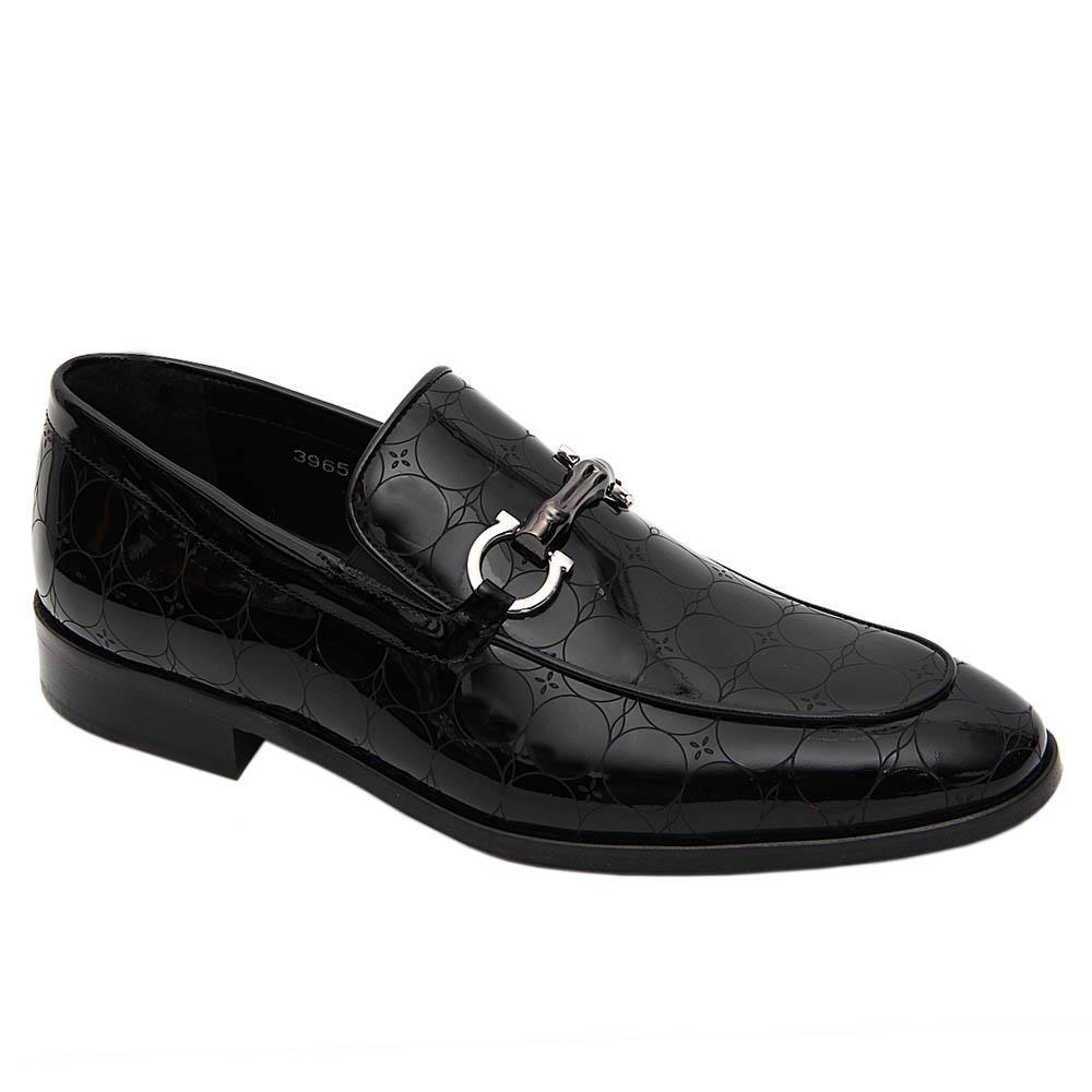 Black Vidal Patent Italian Leather Loafers
