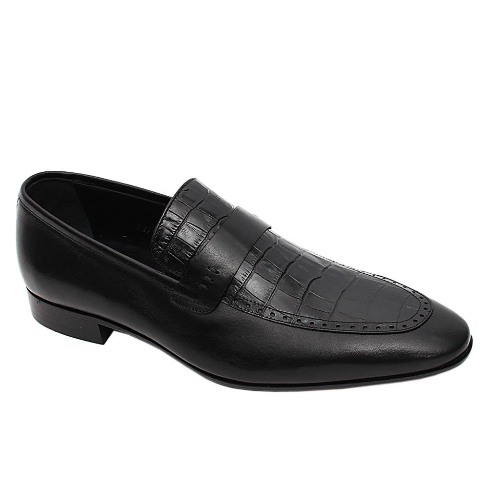 Black Herberto Italian Leather Loafers
