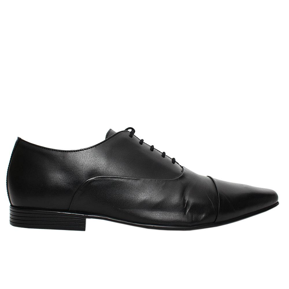 Black Kenwall Leather Men Oxford Shoes