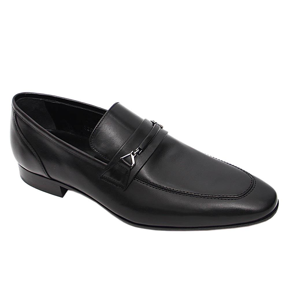 Black Norberto Italian Leather Loafers