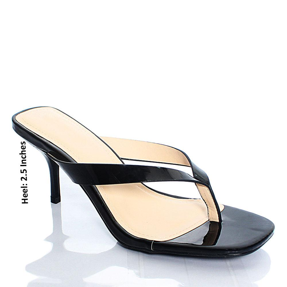 Black BB Reform Patent Leather Mule