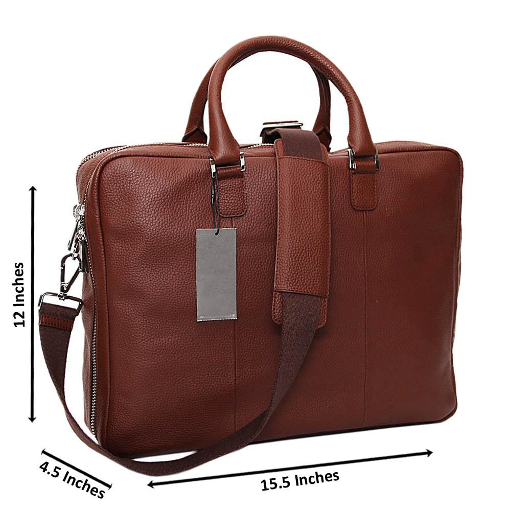 Brown Gregory Pure Leather Briefcase
