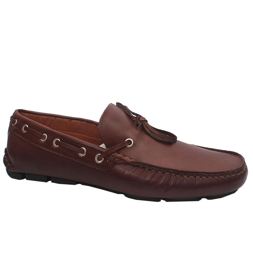 MII Brown Caruso Leather Loafers