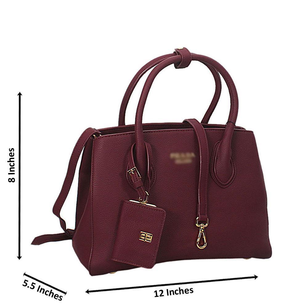 Purple Lucrezia Leather Tote Handbag