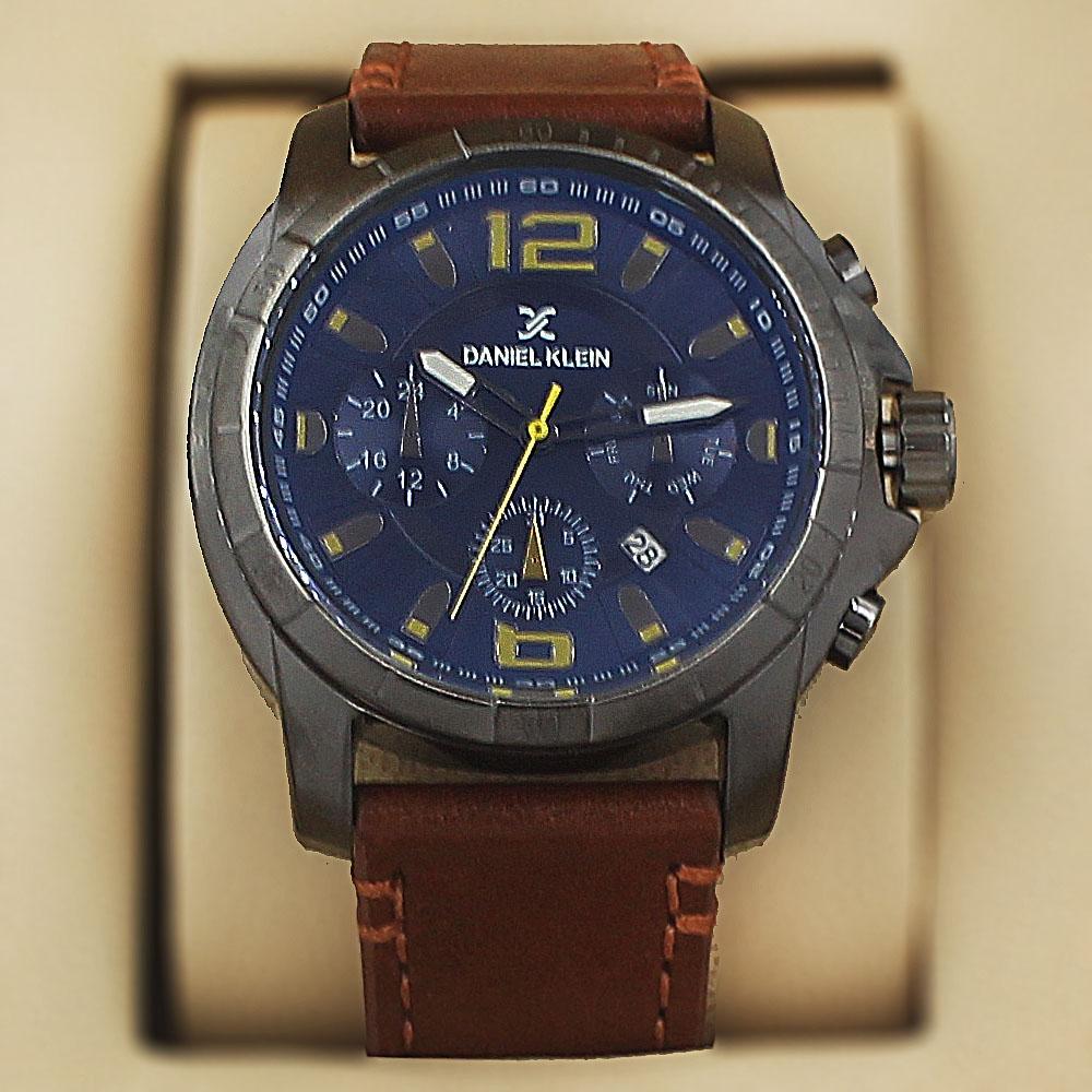Daniel-Klein-Mario-Brown-Leather-Military-Series-Watch