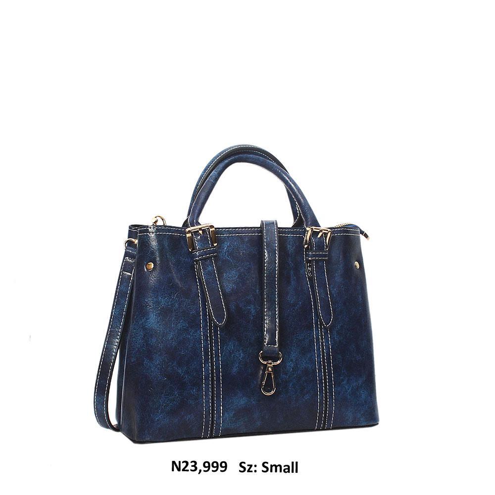 Royal Blue Gabriela Leather Tote Handbag