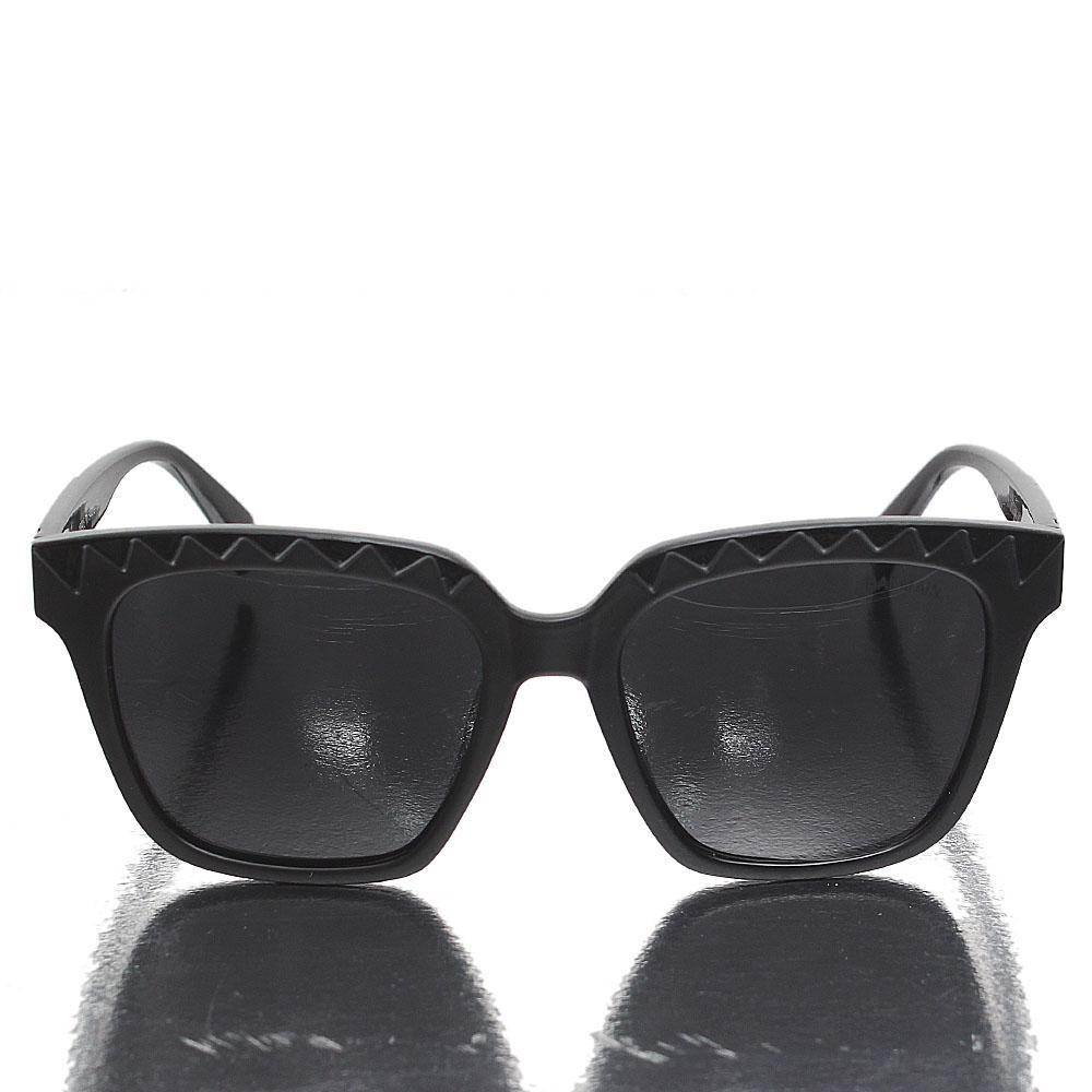 Black White Wayfarer Dark Lens Sunglasses