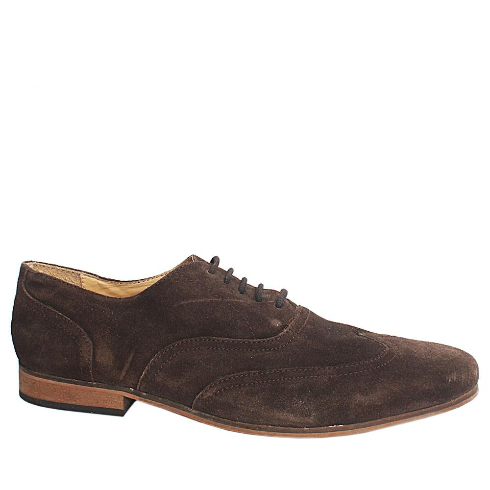 Kurt-Geiger-Dark-Brown-Suede-Lace-Mens-Casual-Shoe