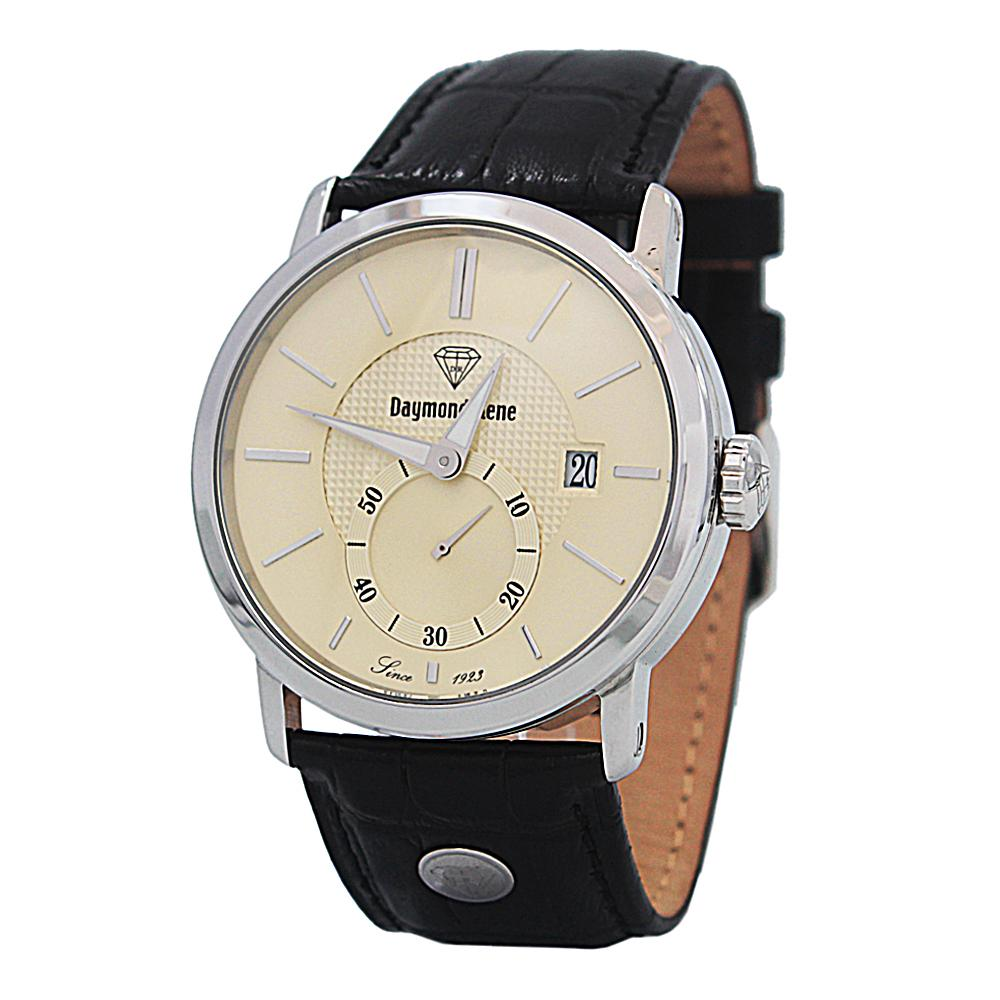 DR 5ATM Black Silver Leather Watch
