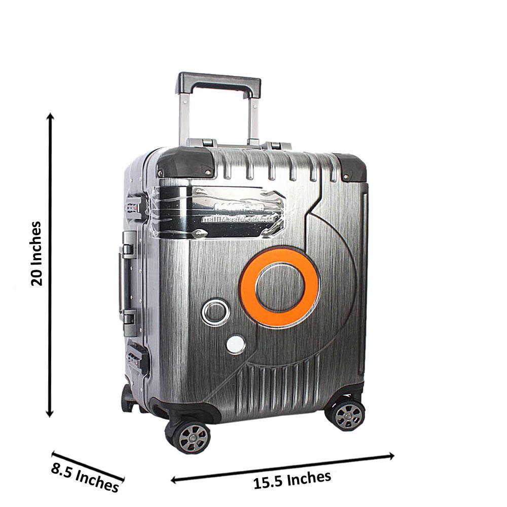 Gray-20-Inch-Mr-Mrs-Hardshell-Carry-On-Luggage-Wt-TSA-Lock