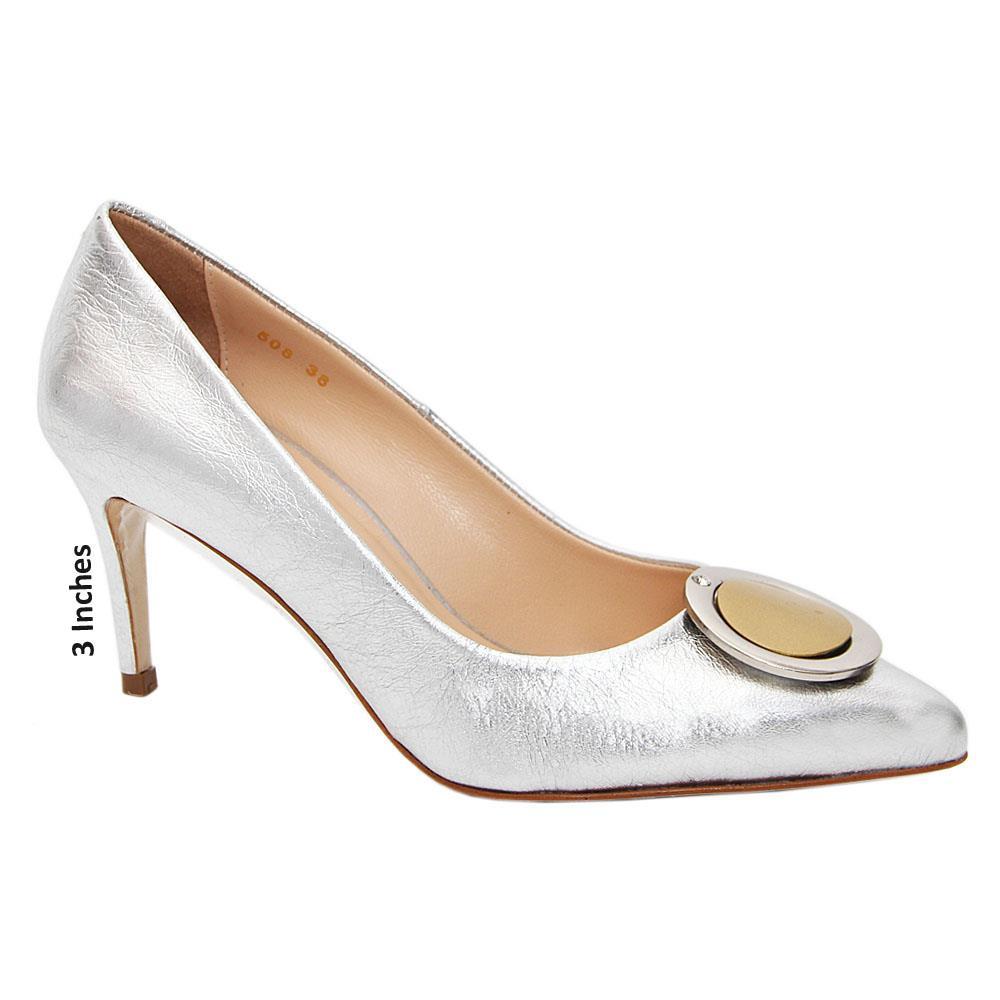 Silver Bella Tuscany High Heel Stiletto Pumps
