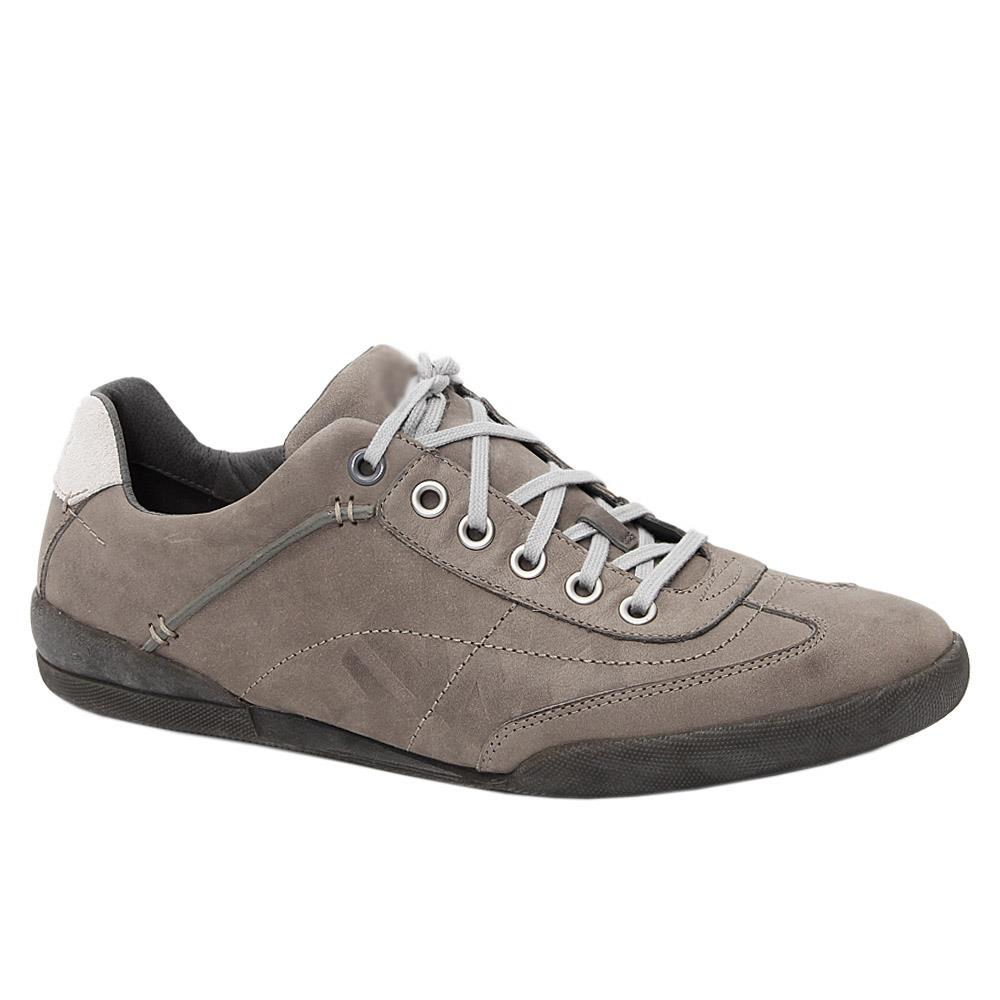 Gray Larry Hommes Leather Comfort Sneakers