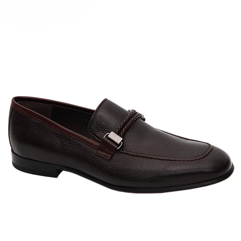 Coffee Orlando Italian Soft Leather Loafers