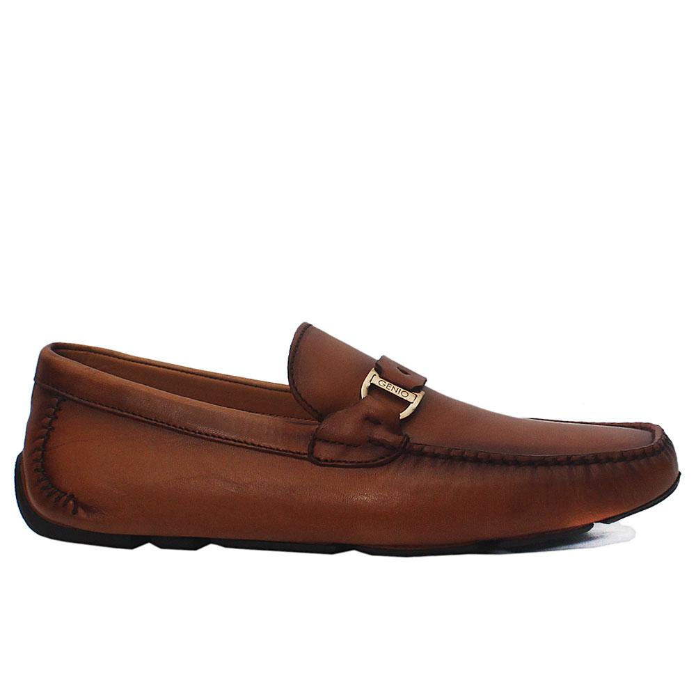 Gen Brown Spiro Italian Leather Drivers Shoe