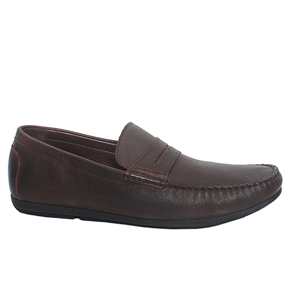 Coffee Stefano Italian Leather Drivers Shoes