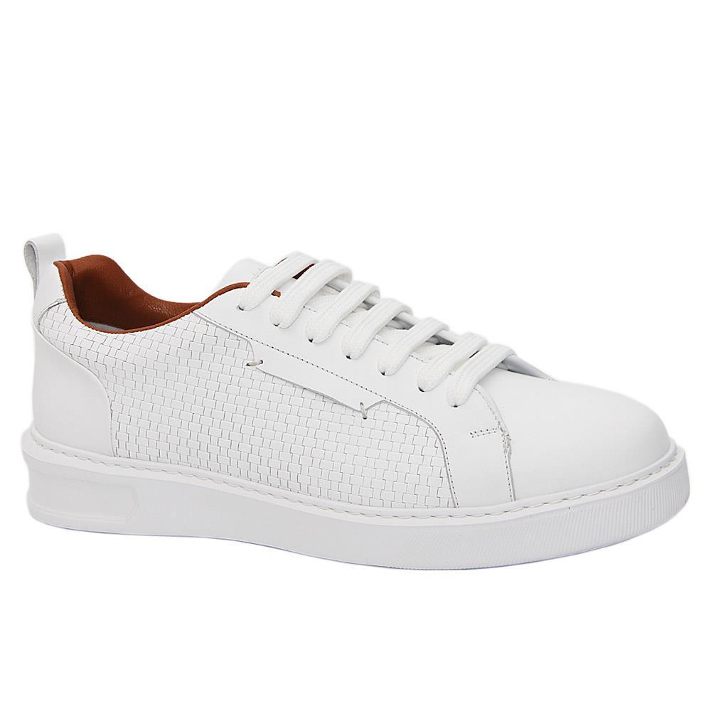 White JF Morten Italian Leather Sneakers