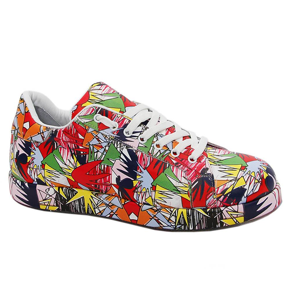Multicolor Wesley Davies Italian Leather Sneakers