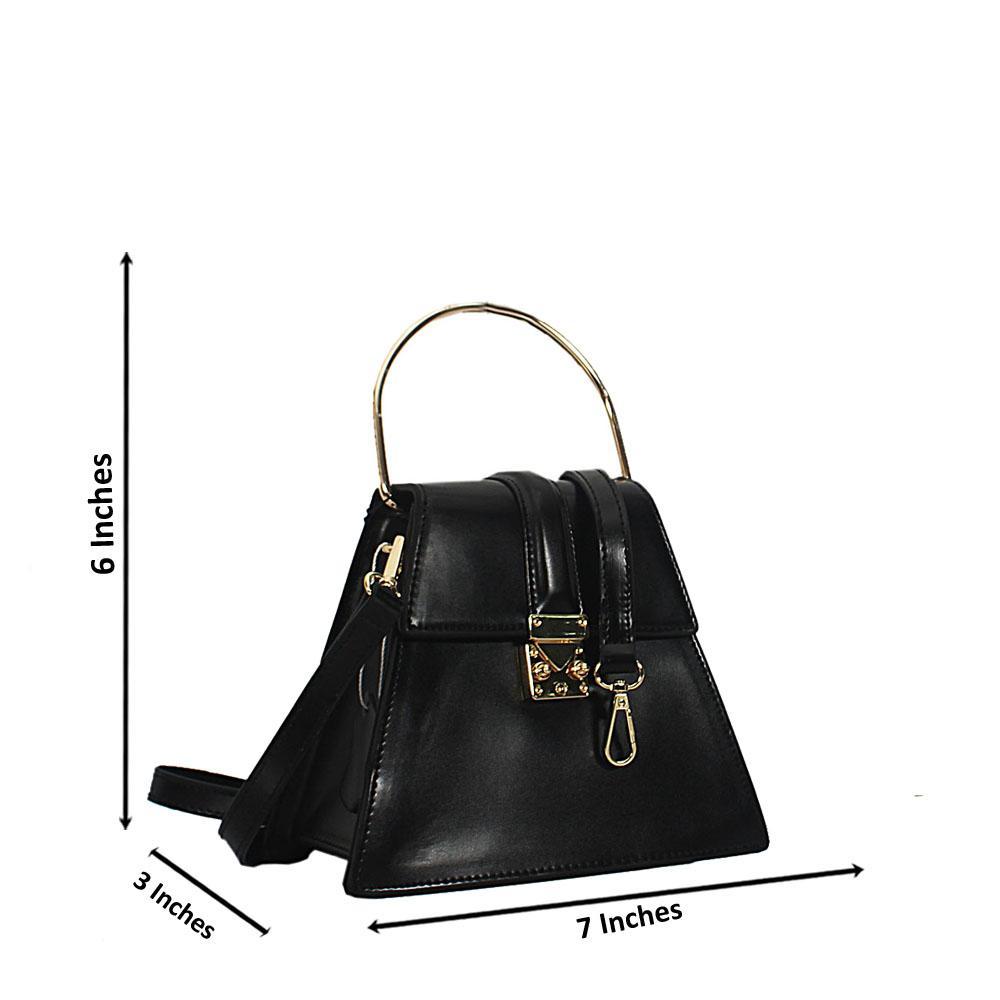 Black Nessa Montana Leather Mini Top Handle Handbag
