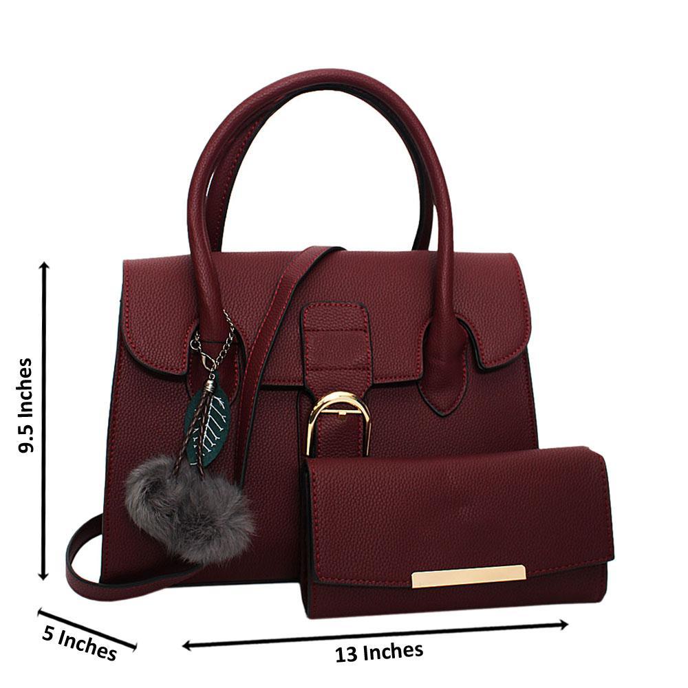 Burgundy Natalia Leather Medium Tote Handbag