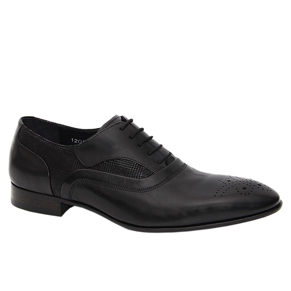 Black Lorenzo Italian Leather Men Oxford Shoe