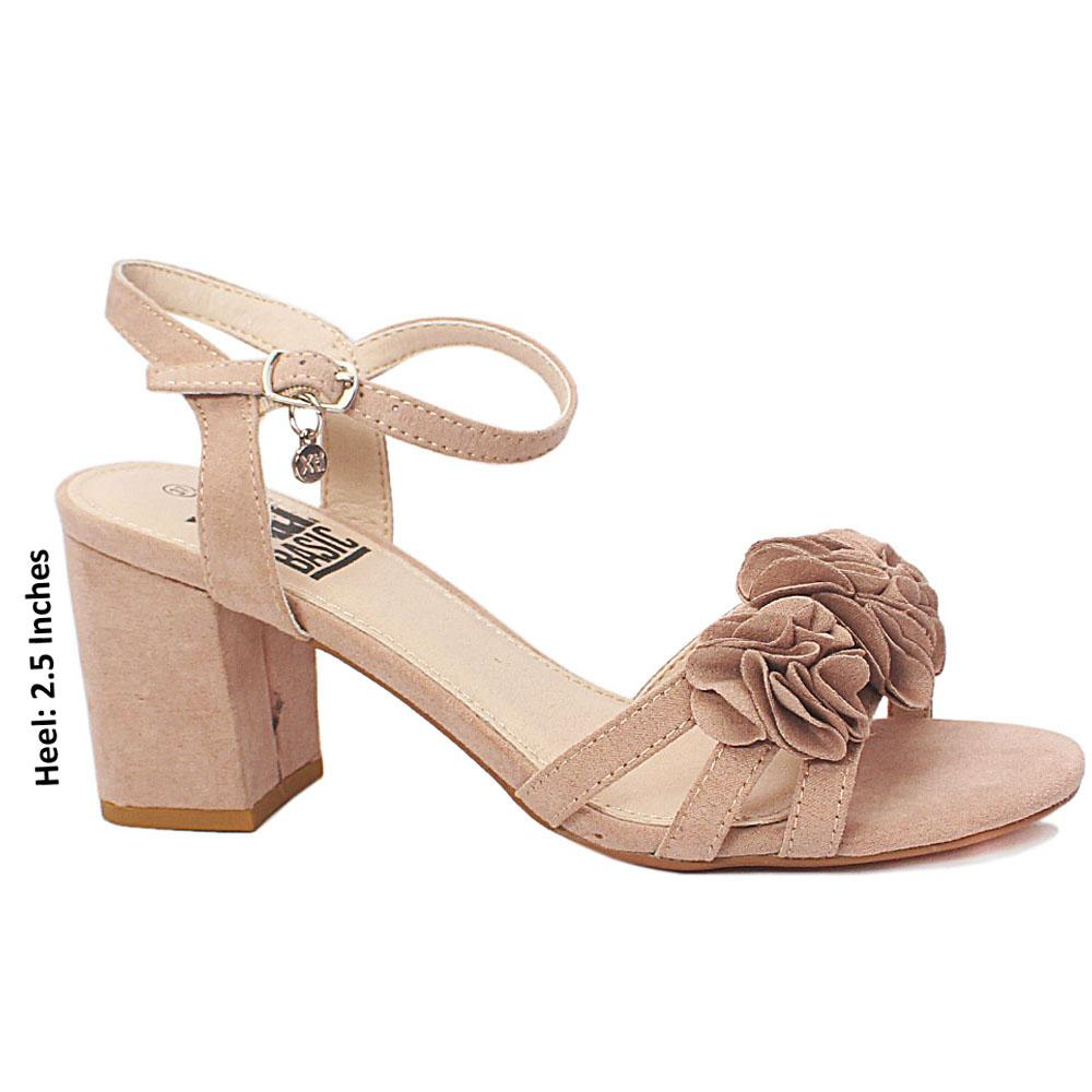 Beige Alessia Abby Suede Leather Heel