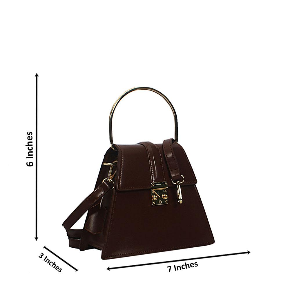 Coffee Nessa Montana Leather Mini Top Handle Handbag