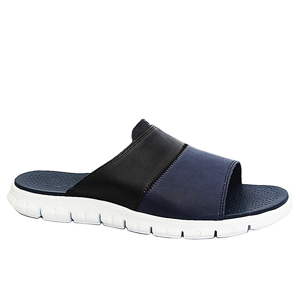 Blue Black G Zero Leather Men Slippers