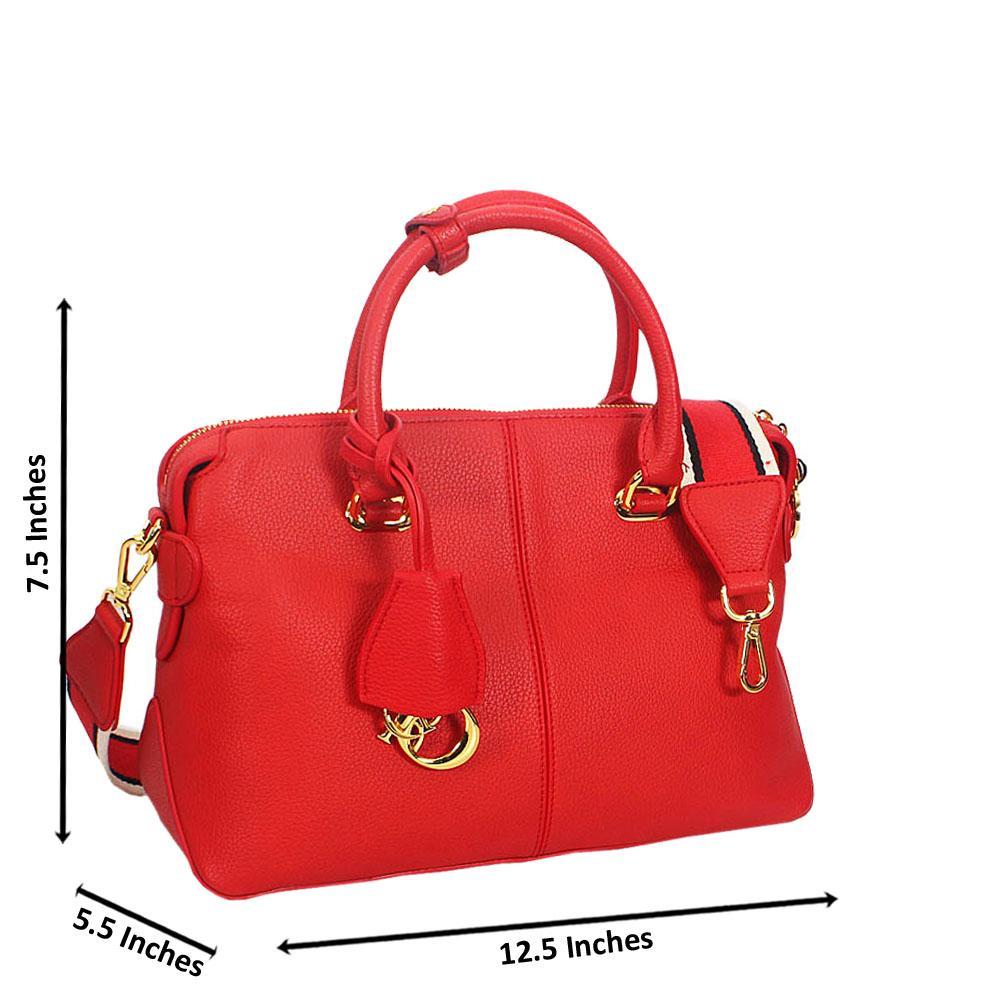 Skye Red Montana Leather Tote Handbag