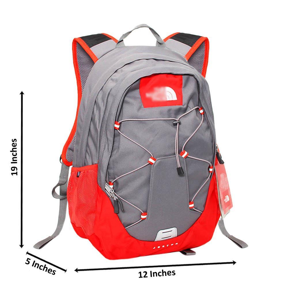 Gray Orange Bobby Fabric Backpack