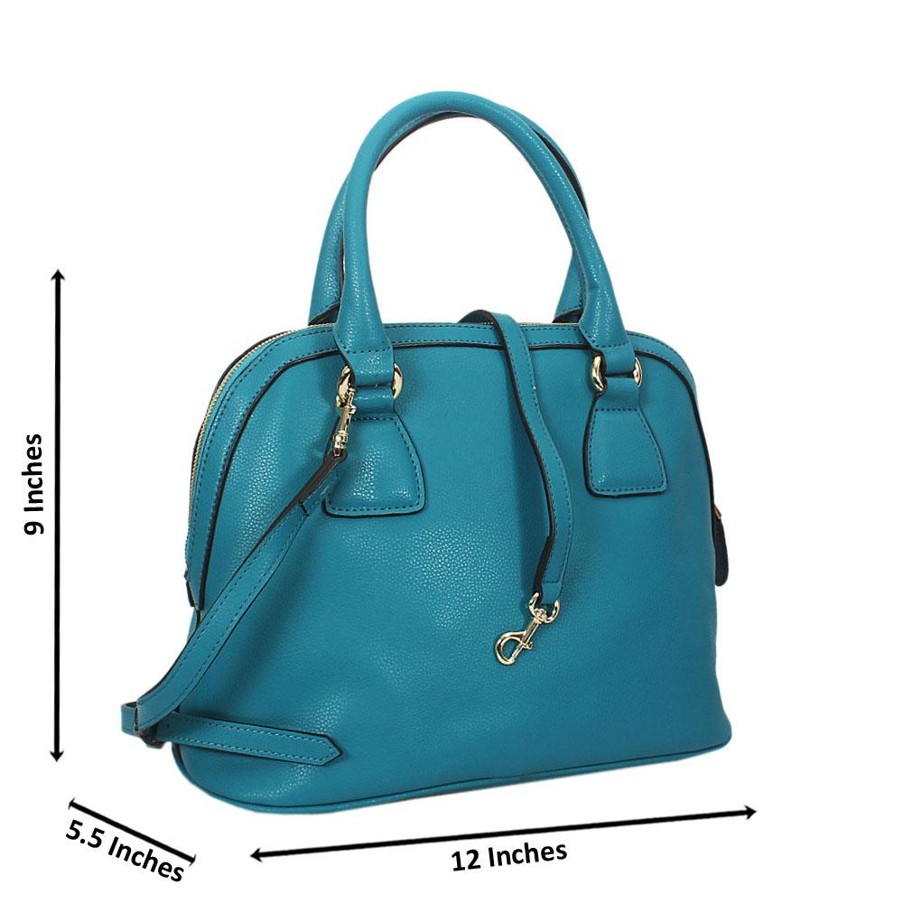 Lexi Blue Montana Leather Zipper Tote Handbag