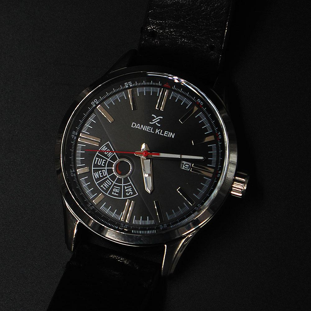 Daniel Klein Javier Black Leather Fashion Series Watch